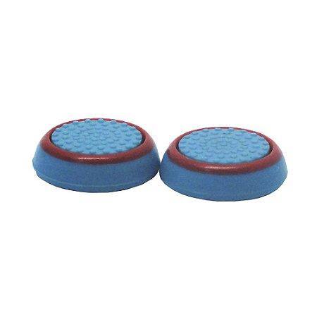 Capa de Silicone Azul e Vermelho para Analógico - Xbox 360, Xbox One, PS3 e PS4