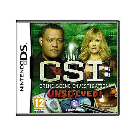 Jogo CSI: Crime Scene Investigation: Unsolved! - DS (Europeu)