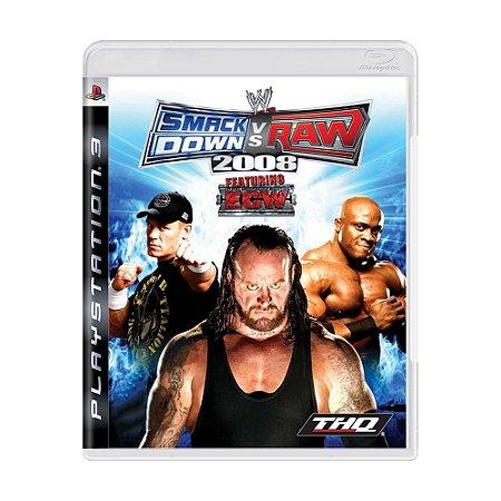 Jogo WWE SmackDown vs. Raw 2008 - PS3