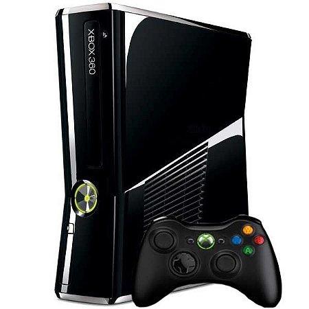 Console Xbox 360 Slim 320GB Black Piano - Microsoft