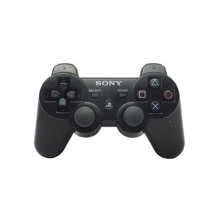 Controle Sony SIXAXIS Preto sem fio - PS3