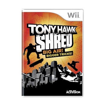 Jogo Tony Hawk Shred: Big Air! Bigger Tricks! - Wii
