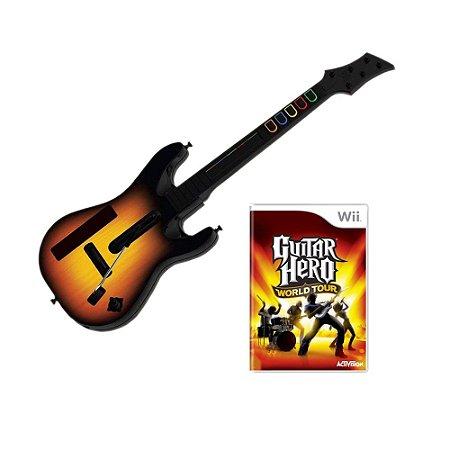 Jogo Guitar Hero: World Tour + Guitarra - Wii