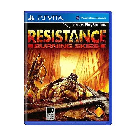 Jogo Resistance: Burning Skies - PS Vita