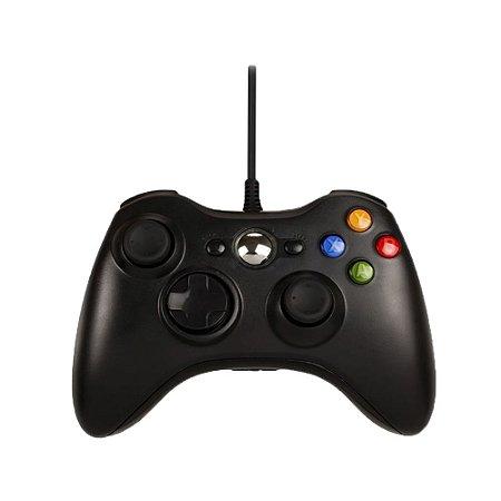 Controle H'maston Preto Com Fio - Xbox 360
