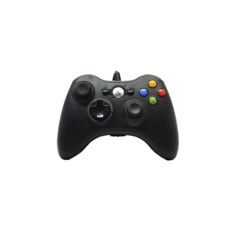 Controle Knup Preto Com Fio - Xbox 360