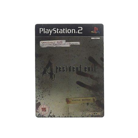 Jogo Resident Evil 4 (SteelCase) - PS2 (Europeu)