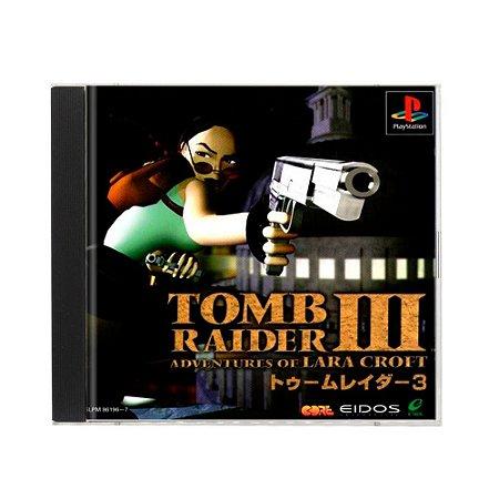 Jogo Tomb Raider III: Adventures of Lara Croft - PS1 (Japonês)