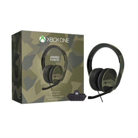 Headset Gamer Microsoft Stereo Armed Forces com fio - Xbox One