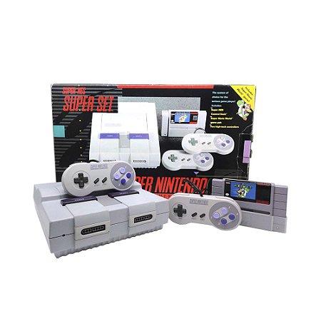 Console Super Nintendo: SUPER SET - Nintendo (Completo, Versão de Colecionador)