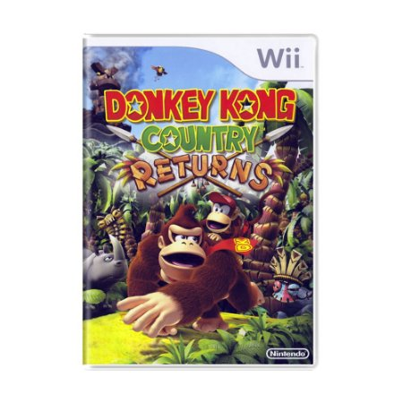 Jogo Donkey Kong Country Returns - Wii (Lacrado)