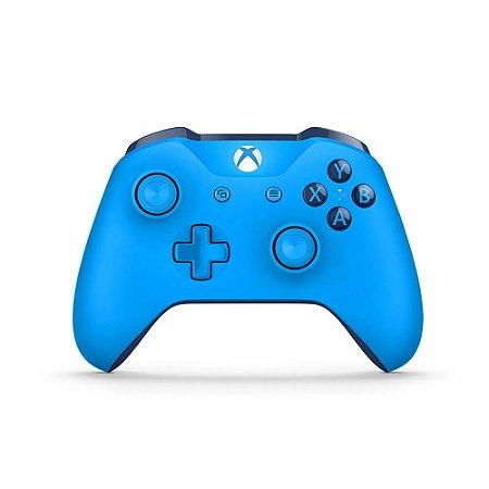 Controle Microsoft Azul sem fio - Xbox One