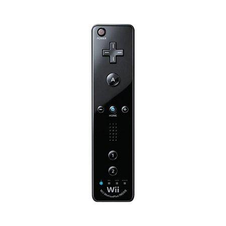Controle Wii Remote Plus Preto Paralelo - Wii