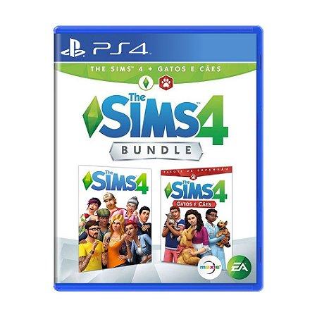 Jogo The Sims 4 + Gatos e Cães (Bundle) - PS4