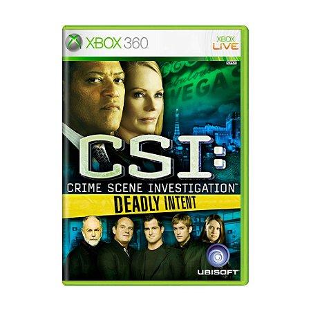 Jogo CSI: Crime Scene Investigation: Deadly Intent - Xbox 360