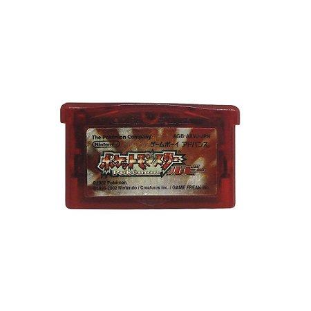 Jogo Pocket Monsters Ruby Version - GBA (Japonês)