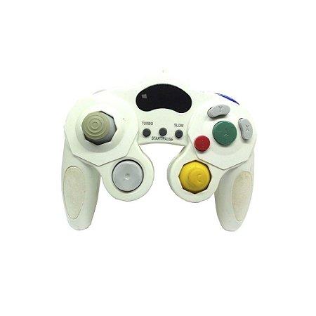 Controle GameCube Branco Paralelo com fio - Nintendo