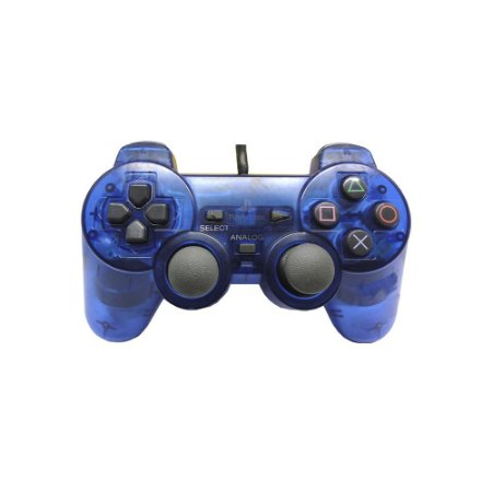 Controle Sony Dualshock 2 Azul - PS2