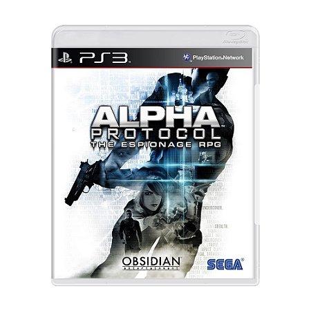 Jogo Alpha Protocol - PS3