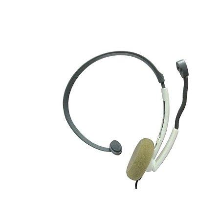 Headset Microsoft Basico Branco e Cinza com fio - Xbox 360