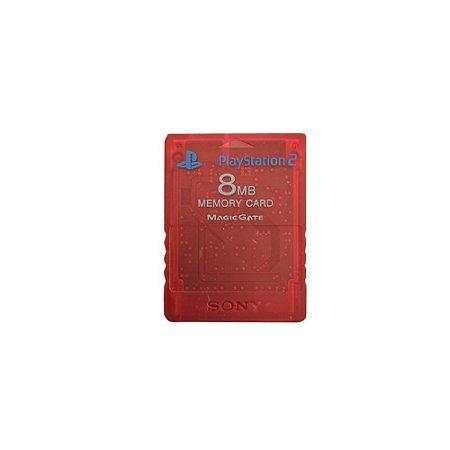 Memory Card Sony Vermelho Transparente - PS2