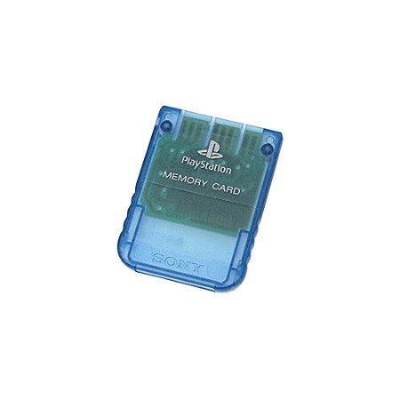 Memory Card Sony Azul Transparente - PS1