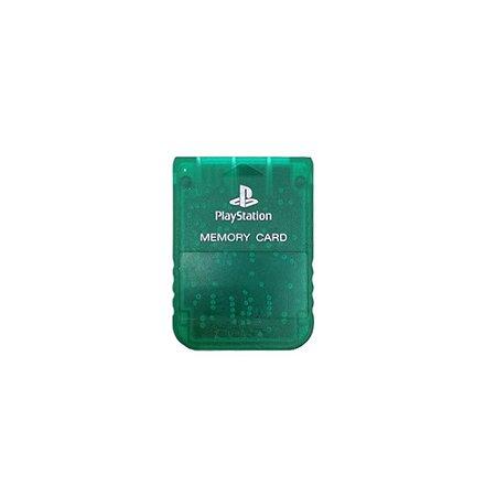 Memory Card Sony Verde Transparente - PS1