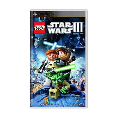 Jogo LEGO Star Wars III: The Clone Wars - PSP