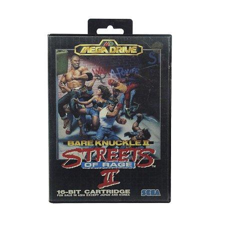 Caixa Streets of Rage II - Mega Drive