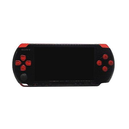 Console PSP PlayStation Portátil 3001 Preto e Vermelho - Sony