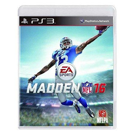 Jogo Madden NFL 16 - PS3