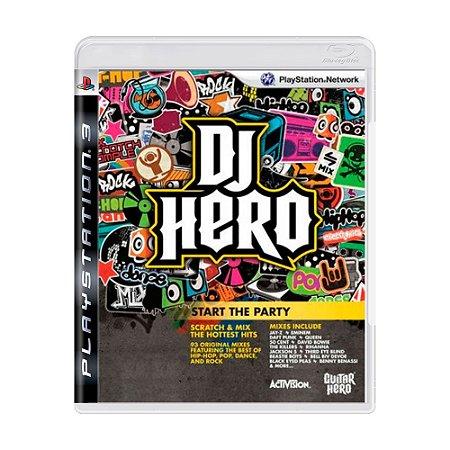 Jogo Dj Hero - PS3 (somente jogo)