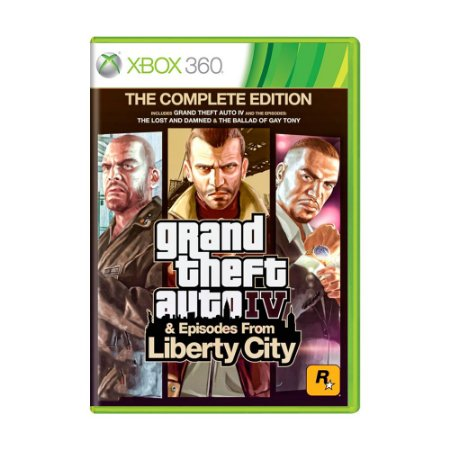Jogo Grand Theft Auto IV & Episodes From Liberty City: The Complete Edition (GTA 4) - Xbox 360