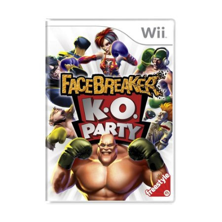 Jogo FaceBreaker K.O. Party - Wii
