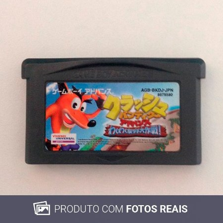 Jogo Crash Bandicoot Advance: Wakuwaku Tomodachi Daisakusen - GBA Game Boy Advance