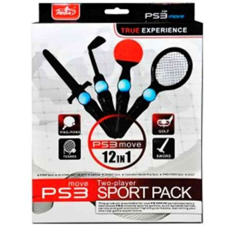 Sport Pack Pega Two-Players PS Move 12 em 1 - PS3