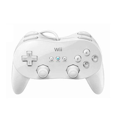 Controle Nintendo Classic Pro Branco com fio - Wii