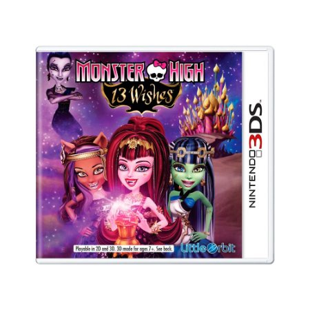Jogo Monster High: 13 Wishes - 3DS