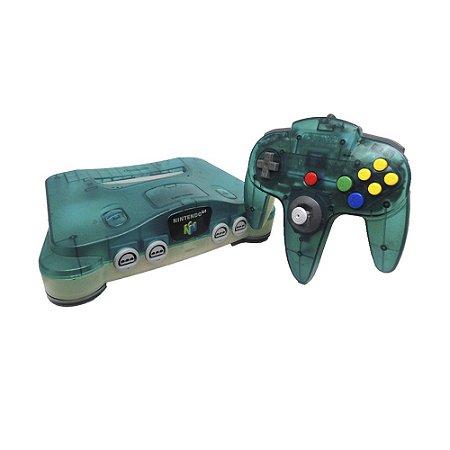 Console Nintendo 64 Clear Blue - Nintendo (Japonês)