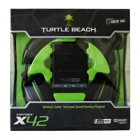 Headset Turtle Beach Ear Force X42 sem fio - Xbox 360