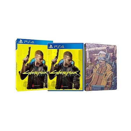 Jogo Cyberpunk 2077 + Steelcase - PS4