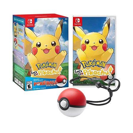 Jogo Pokémon: Let's Go, Pikachu! + Poké Ball Plus - Switch