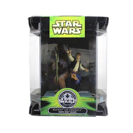 Action Figure Han Solo and Chewbacca (Death Star Escape - Star Wars Silver Anniversary) - Hasbro