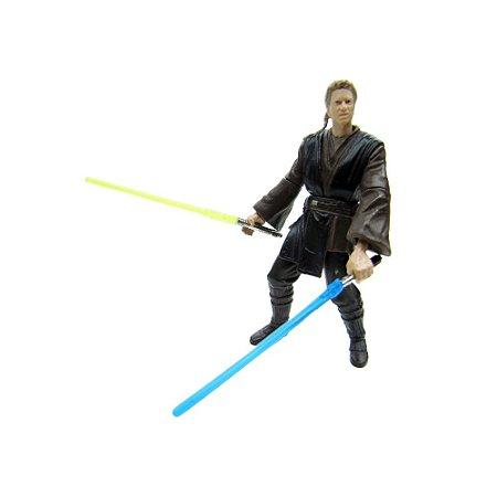 Action Figure Anakin Skywalker (Lightsaber Slashing Action - Star Wars: Attack of the Clones) - Hasbro