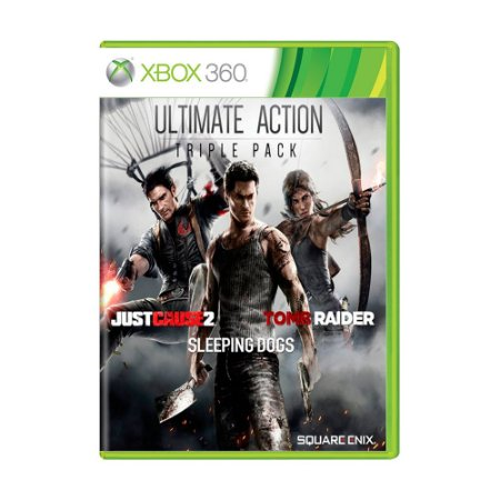 Pacote Ultimate Action Triple: Just Cause 2 + Sleeping Dogs + Tomb Raider - Xbox 360