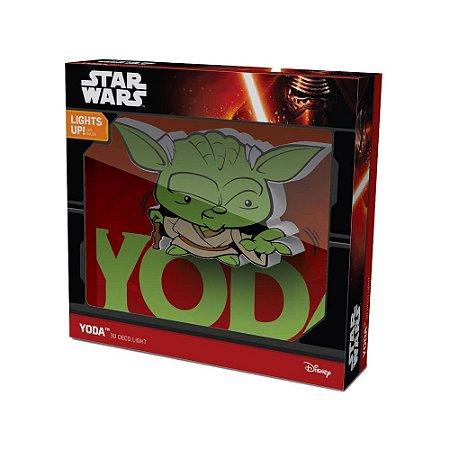 Mini Luminária 3D Light FX Star Wars: Yoda