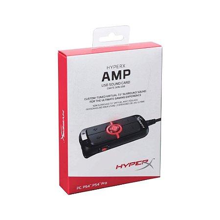 Placa de Som HyperX AMP USB Virtual 7.1 Surround