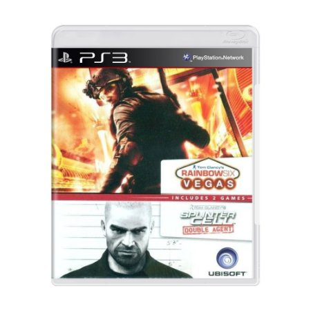 Jogo Tom Clancy's Splinter Cell Double Agent + Rainbow Six Vegas (Double Pack) - PS3