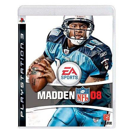 Jogo Madden NFL 08 - PS3