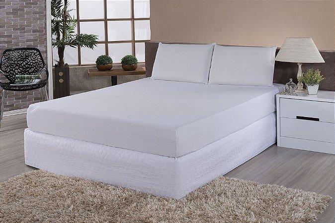 Protetor De Colchão 100% PVC Impermeável Casal Box Para Colchão De 1,88m x 1,38m x até 30cm de altura